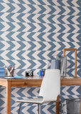 This Way - Coastal Blue Wallpaper - Art in Chaos