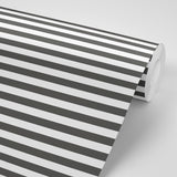 Versa Stripe - Jet Black Wallpaper - Mrs Paranjape Papers
