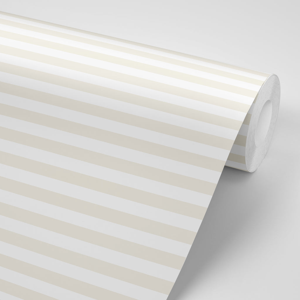 Versa Stripe - Naturally Neutral Wallpaper - Mrs Paranjape Papers