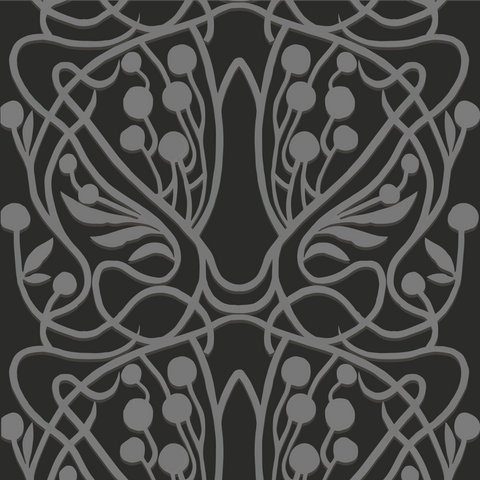 Vineyard - Black - Organic Wallpaper Collection