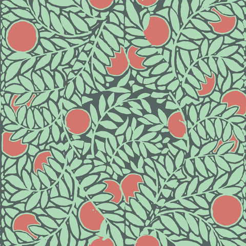 LUCKY Orange Grove - Mint/Coral Wallpaper - MB SIGNATURE