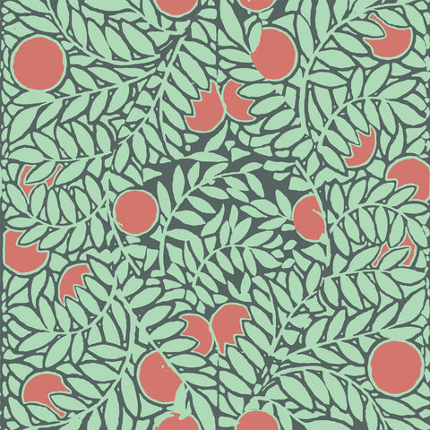 Orange Grove - Mint/Coral Wallpaper - MB SIGNATURE