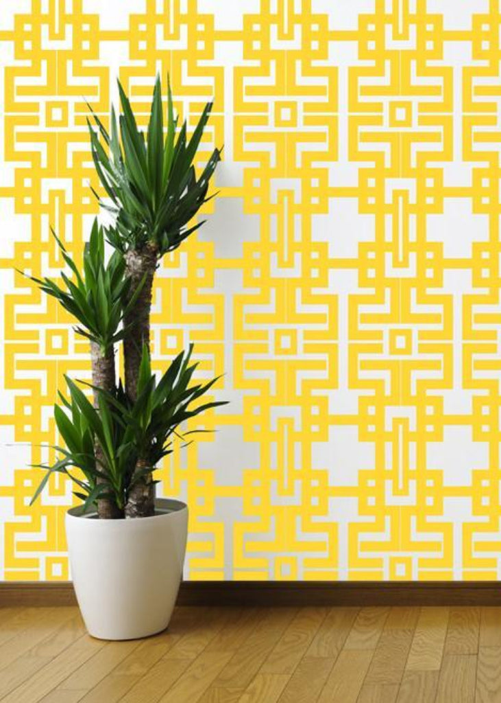 Aztec - Marigold Wallpaper - The Blush Label