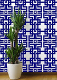 Aztec - Navy Wallpaper - The Blush Label
