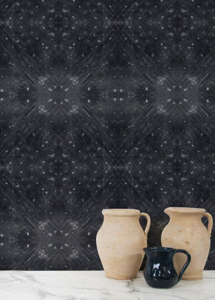 """BLACK CELESTIAL DIAMONDS"" ABRA REMOVABLE WALLCOVERING"