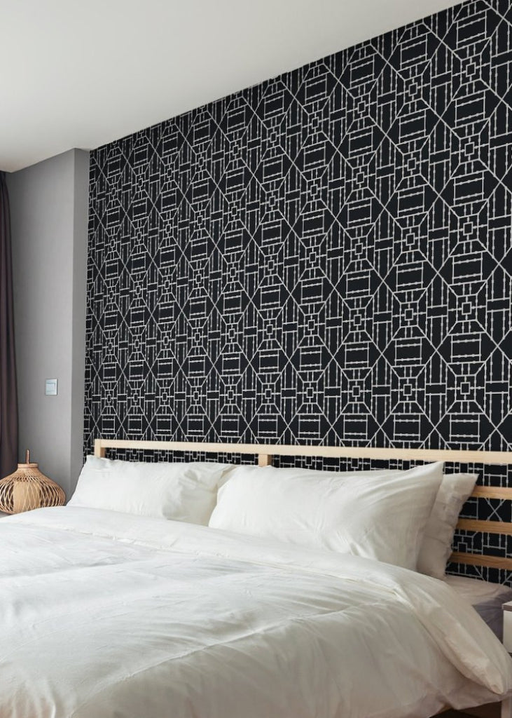 Bamboo Black Wallpaper - The Blush Label