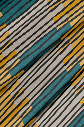 Zaire Teal Forbes + Masters - Fabric by the Yard