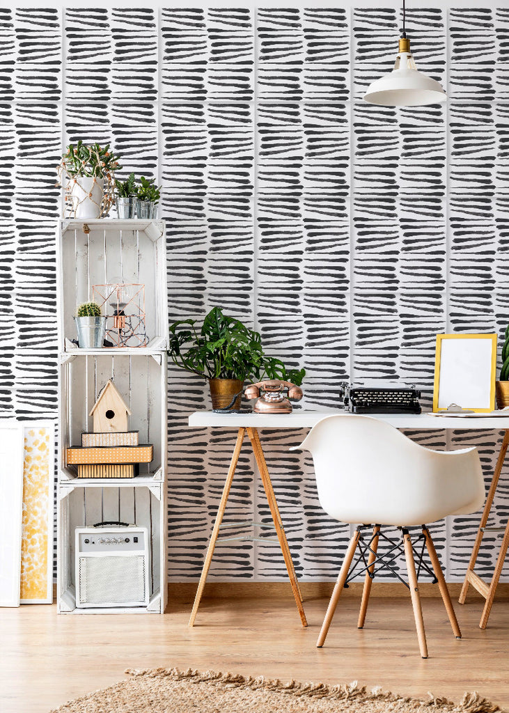 Wall Tile Zebra in Black & White