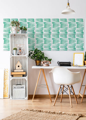 Wall Tile Zebra in Mint