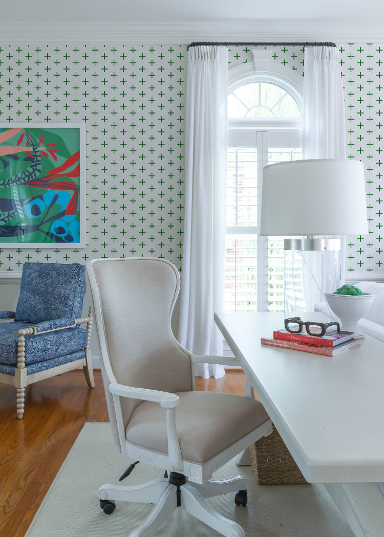 Addition - Signature Green Wallpaper - Mrs Paranjape Papers