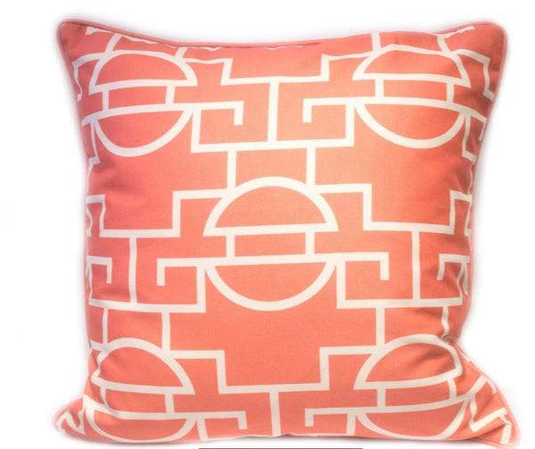 Just Too Graphic Pillow - Summer Peach
