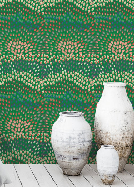 Jardine - Peacock Wallpaper - JULIANNE TAYLOR STYLE