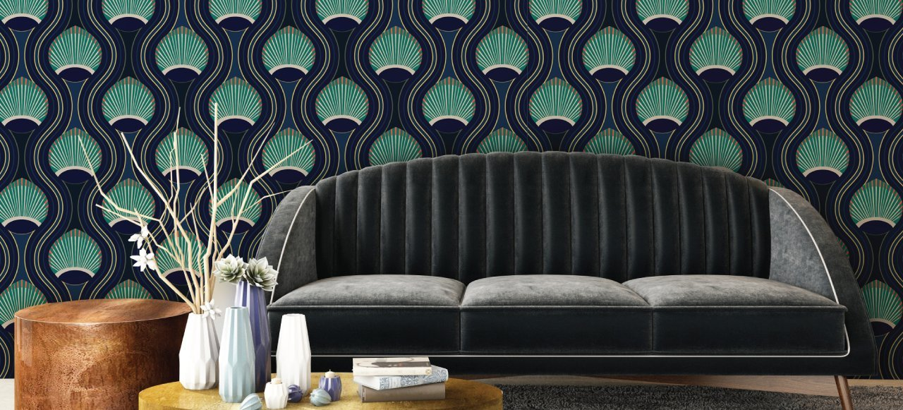 Oxford Wallpaper Kensington Collection by Julianne Taylor for Mitchell Black - color: Brigade