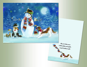Snowman Puppies Deluxe Velvet Touch
