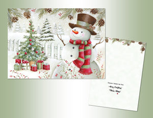Holiday Snowmen Deluxe Velvet Touch