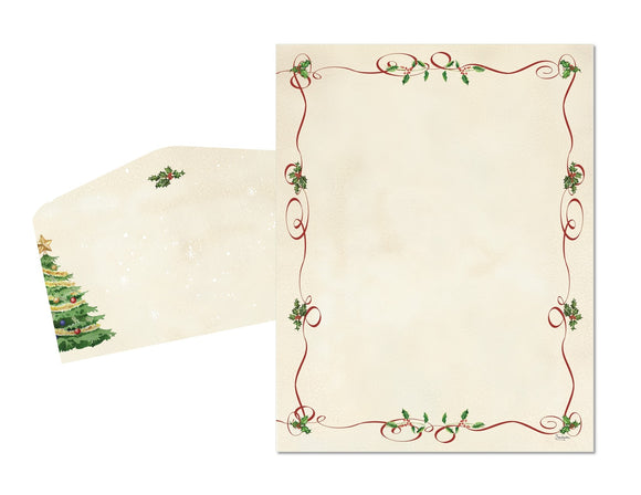 Ribbon Swirl - Holiday Stationery