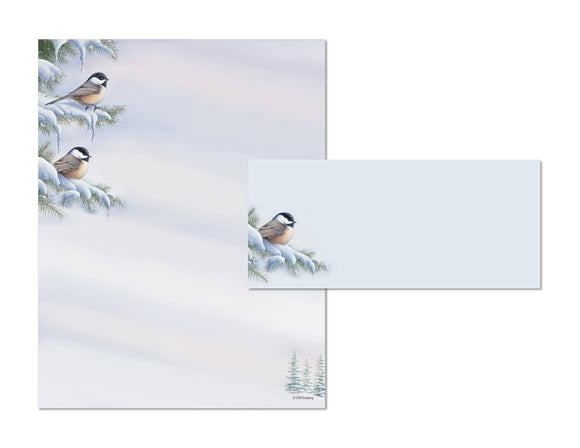 Chickadees - Holiday Stationery