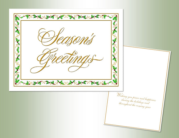 Season's Greetings - Embossed Foil