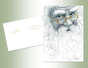 Santa Glasses - Embossed Foil
