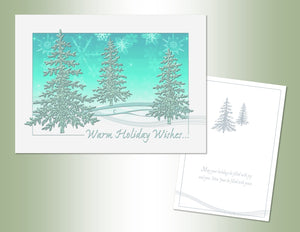 Warm Holiday Wishes - Embossed Foil