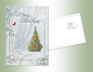 Merry Christmas Tree - Embossed Foil