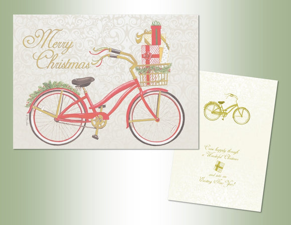 Christmas Bike - Embossed Foil