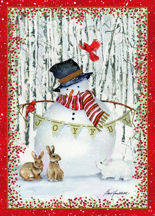 Forest Snowman - Embossed Foil