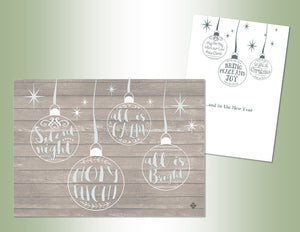 Holy Night Ornaments - Embossed Foil