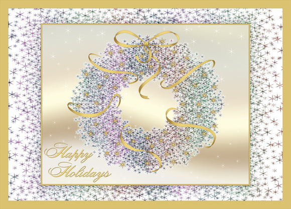 Wreath - Embossed Foil