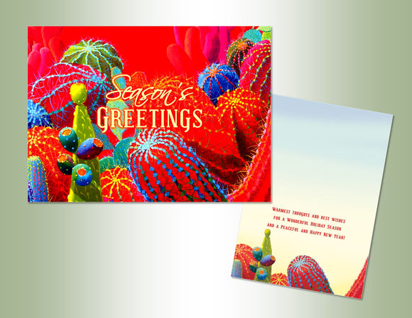 Season's Greetings Cactus - Exceptional Value