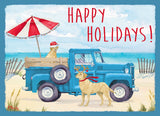 Happy Holiays Blue Truck - Exceptional Value