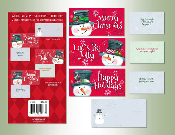 Snowy Greetings - Money Gift Card Holder