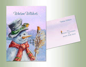 Warm Wishes Snowman - Die Cut Collection