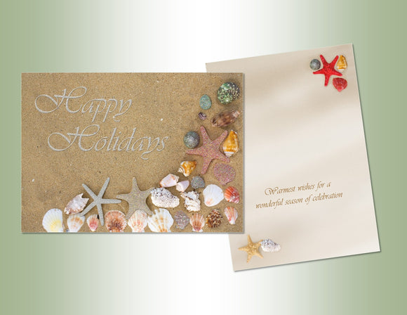 Happy Holidays Shells - Deluxe Glitter