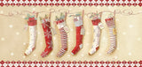 Christmas Stockings - Long Glitter