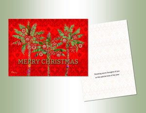 Merry Christmas Palms - Deluxe Glitter