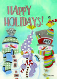 Happy Holidays Snowman - Deluxe Glitter