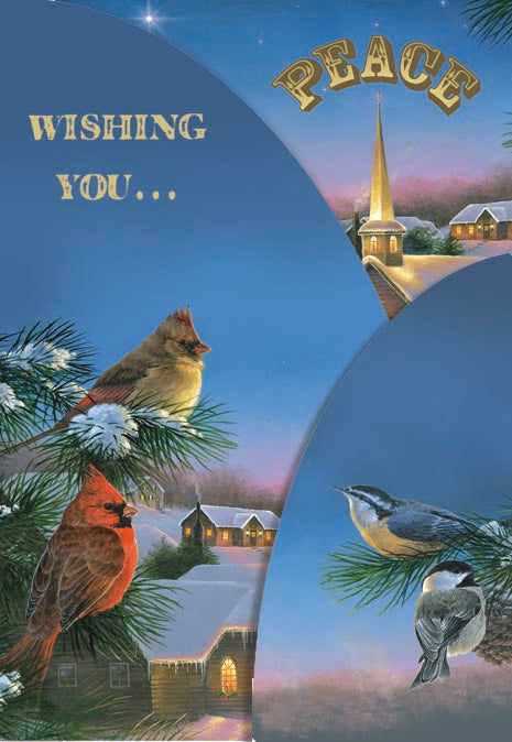 Wishing You Peace - Panoramic Tri-Fold