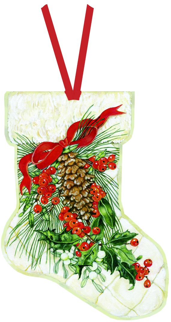 Stocking - Ornament Card