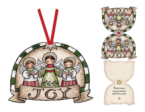Three JOY Angels - Ornament Card