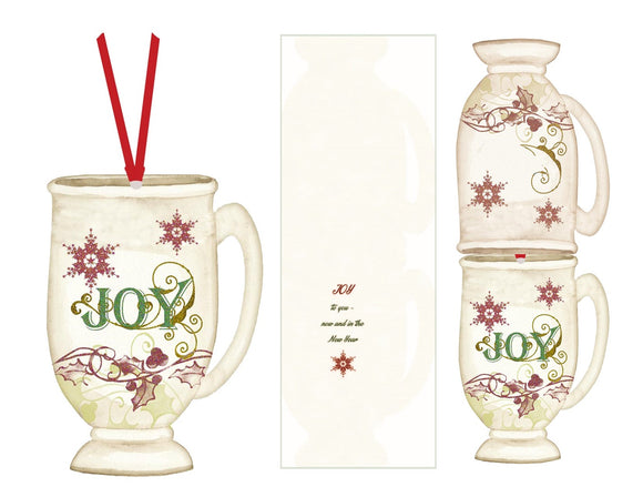 JOY Cup- Ornament Card