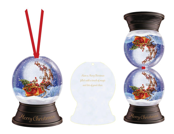 Santa Snow Globe - Ornament Card