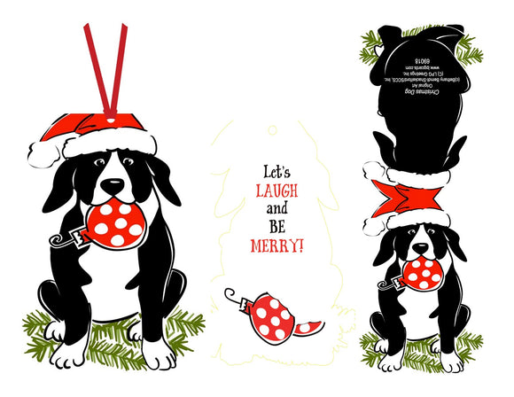 Dog Present - Ornament Card