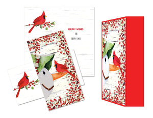 Snowman and Cardinal - Mini Long Keepsake