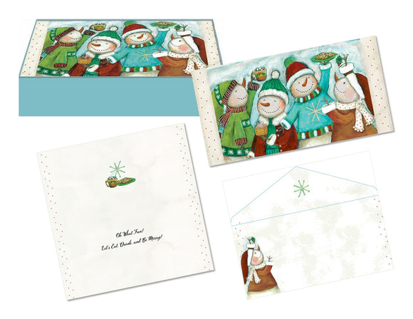 Snowman Friends - Mini Long Glitter Keepsake