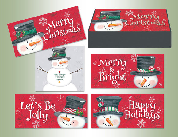 Snowy Greetings - Long Assorted Keepsake