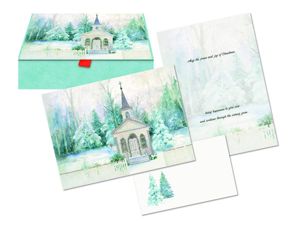 Church in Winter - Glitter Keepsake