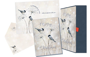 Chickadees - Glitter Keepsake