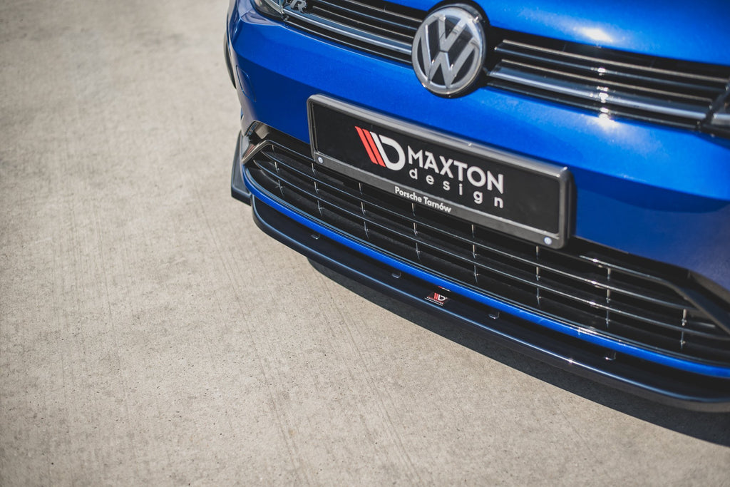 Maxton Design Front Ansatz passend für V.9 VW Golf 7 R Facelift Carbon Look