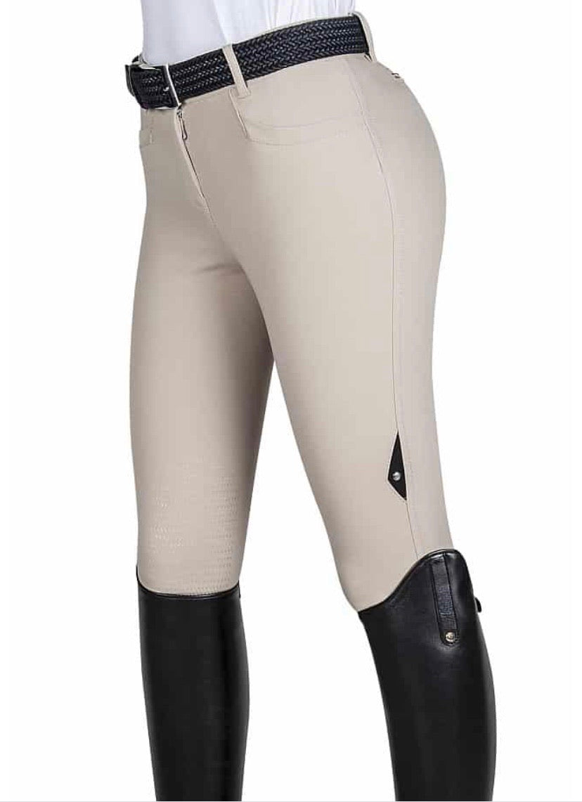 Equiline Women's Ash Knee Patch Grip Breeches